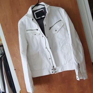 Guess White Denim Jacket